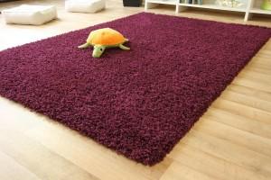 Hochflor Teppich Funny in lila