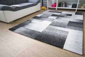 Designer Teppich Modern Modena Felder